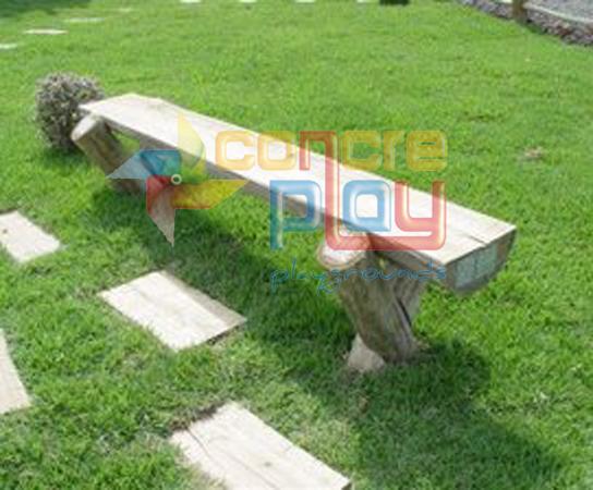 Bancos r sticos de eucalipto e madeira concreplay for Bancos de jardin rusticos